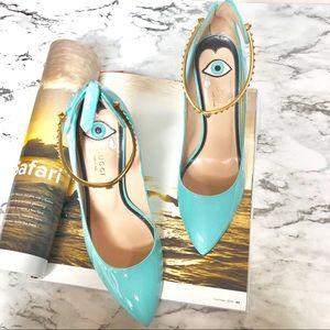 GUCCI Vernice Ankle Strap Pumps Authentic